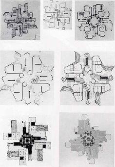 on something, Francisco Javier Saenz de Oiza, Diagrammatic Plan...