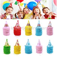 10Pcs  Happy Birthday Various Styles Cone Hats Boys Girls Festival Photo Prop