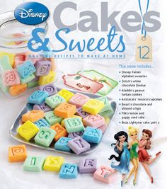 Issue 12 includes Disney Fairies' alphabet sweeties! #disneycakes