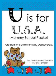 Free Homeschool Printables: U is for USA Packet