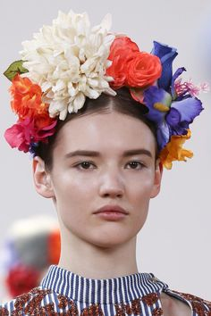 flower crowns at fashion week!    Eudon Choi Fall 2013