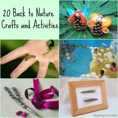 20 Back to Nature crafts ideas and activities, includes magic wands, fairy doors, lollystick boats, pinecone owls, nature trails and much more #Nature #crafts #kidsactivities