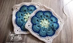 granny square african flower free pattern patron gratis.  (In Spanish with diagram.)