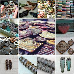 Marsha Neal Studio Handmade Ceramic Beads and Pendants.