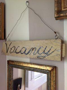 Vacancy/No Vacancy Sign. $20.00, via Etsy.