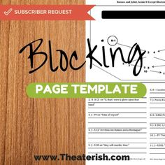 Blocking page template