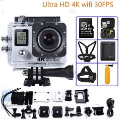 52.80$ Buy here - Sports Camera 4K Ultra HD 170 Degree Wide View Angle WiFi Action Camera with Allwinner V3 Action Camera sensor SONY IMX179