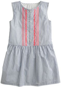 J.Crew Girls' embroidered dress in blue stripe on shopstyle.ca