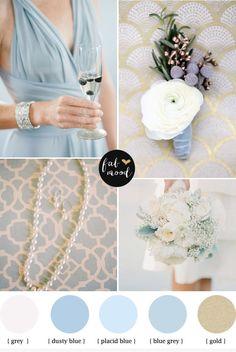 Gold & blue color palette