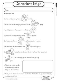 Worksheet 1 Worksheets Afrikaans Grade 4 Grade R Worksheets, Free Kindergarten Worksheets, Music Worksheets, Printable Worksheets, Afrikaans Language, Afrikaanse Quotes, Classroom Management Tips, Second Grade Teacher, Second Language