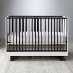 Elevate Crib from @landofnod - this modern crib has a super-sleek design!