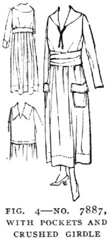 Georgia O'Keeffe sewed her own clothes in 1917 and photos of her show her in a dress similar to this.    McCall's Dressmaking Lesson 1917
