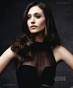 Emmy Rossum you are defying gravity. Or something.