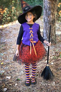No SEW WITCH COSTUME! Make your own witch in minutes! Just a few supplies and a couple pre-made items and you can have the cutest witch on the block. MichaelsMakers Skip to My Lou