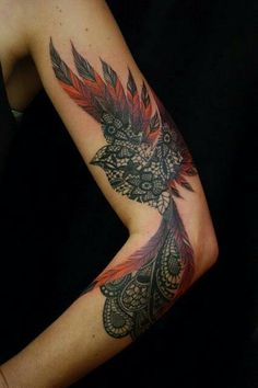 Beautiful Phoenix Tattoo- wonder if this would cover my 90s tramp stamp