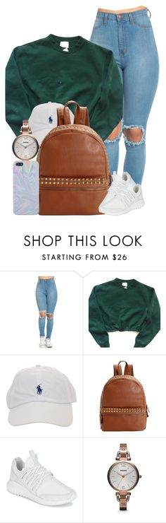 """""""Lookin' Like A Snack"""" by imwhit ❤ liked on Polyvore featuring adidas, Steve Madden and FOSSIL"""