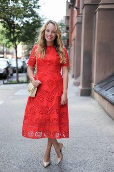 asos red dress // the stripe.