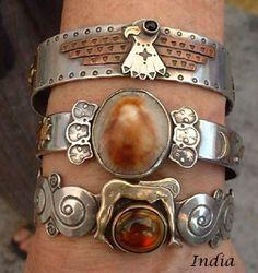Exotic silver bracelets