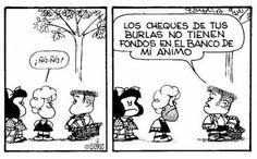 """""""Mirá Mafalda, no te resulta maravilloso estar aqui en wall-street y ver pasar potentados tan finos y elegantes?"""" Beatles, I Started A Joke, Sarah Andersen, Funny Memes, Jokes, Alter Ego, Life Inspiration, Make Me Happy, Comic Strips"""