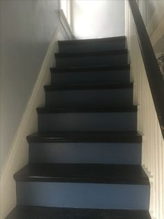 Refinished stairs/ stain and paint