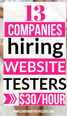 Want to make extra money online? Why not become a website tester? We have 13 work from home companies with website testing jobs that can pay. Ways To Earn Money, Earn Money From Home, Earn Money Online, Online Jobs, Way To Make Money, Online Careers, Money Fast, Online Courses, Online Survey