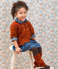 Cabled Knit Sweater & Leg Warmers