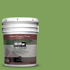 BEHR Premium Plus Ultra 5-gal. #P380-6 Springview Green Eggshell Enamel Interior Paint