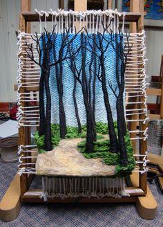 Dimensional Weaving - Martina Celerin 3D fiber art: Taking the Redeye to Ohio