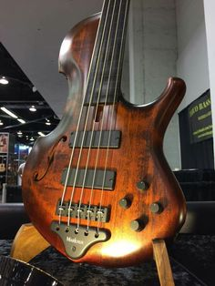 First Contra fretless. Check it out at our NAMM booth #marleaux #bassguitar…