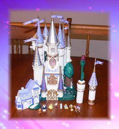 Vintage Trendmasters Beauty and the Beast Castle Micro Playset w/Rose Flashlight