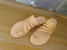 Sandals Ancient Greek Handmade Leather, Natural color Women's by MagusLeather on Etsy https://www.etsy.com/listing/183697029/sandals-ancient-greek-handmade-leather