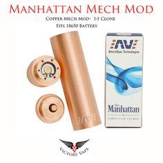 Manhattan Mech Mod (Copper) • 1:1 Clone – Victory Vape