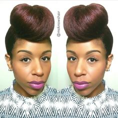 Frontal bunning - To learn how to grow your hair longer click here - blackhair.cc/1jSY2ux