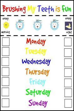 picture regarding Printable Tooth Brushing Charts named 20 Perfect Printable Brushing Charts for Little ones illustrations or photos in just 2016