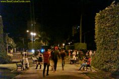 Avenida de Los Presidentes at night is fantastic. It's a top action spot in the city. Just come here and relax on the benches and listen to the locals play music. Grab a beer at the outdoor bar. Make some friends. This is the place to be for a great evening in Vedado. Learn about other fun , cheap places, in the guide.