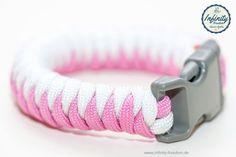 New #Paracord #Bracelet @ www.infinity-freedom.de    Im Shop gibt es ein neues #Paracord #Armband. Visit @ www.infinity-freedom.de   Just for girls - das neue Armband in weiss und lavender-pink.
