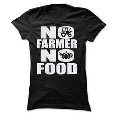 (Tshirt Amazing Order) NO FARMER NO FOOD T SHIRTS Discount Codes Hoodies Tee Shirts