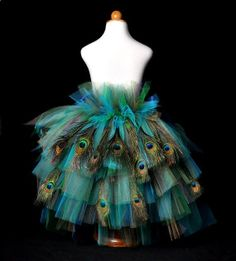 Adult Peacock Feather Bustle Tutu...Halloween Costume, Costume Party, Mardi Gras . . . GOLDEN PEACOCK with Feathers