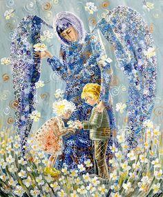 Anioł stróż dzieci obrazy marina czajkowska anioły sztróż prezent