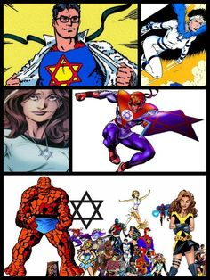 Star of David Comic Book Heroes