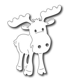 Frantic Stamper Precision Die - Adorable Moose-How cute is this moose? It's just plain adorable! Measuring wide x tall, he'll make a fantastic addition to cute Christmas cards Frantic Stamper Precision Dies are proudly made in the USA! Pvc Pipe Crafts, Cardboard Crafts, Wood Crafts, Paper Crafts, Cute Christmas Cards, Christmas Art, Christmas Decorations, Christmas Ornaments, Cut Animals