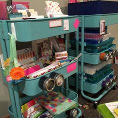 Ideas for filling my Raskog trolley Ikea Raskog Trolley, Ikea Cart, Planner Organization, Craft Organization, Organizing, Space Crafts, Home Crafts, Diy Rangement, Studio Spaces