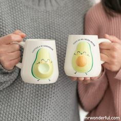 Cute Coffee Mugs, Cool Mugs, Coffee Cups, Cute Avocado, Mug Art, Birthday Gifts For Best Friend, Book Sculpture, Pottery Painting, Clay Crafts