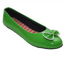 Green Casual Ballerinas / Rs.329