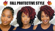 Crochet Braids Tutorial: Fall Inspired Protective Style using Kima Kalon [Video] - https://blackhairinformation.com/video-gallery/crochet-braids-tutorial-fall-inspired-protective-style-using-kima-kalon-video/