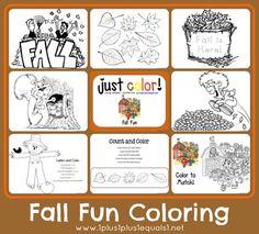 Fall Fun Coloring Printables