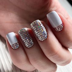 nail art designs for winter gorgeous nails 2020 amazing nail art ideas that will inspire you 2020 clear butterfly nails clear acrylic nails santa nail art clear nails plus Pretty Gel Nails, Gorgeous Nails, Fun Nails, Clear Nails, Ombre Nail Designs, Nail Polish Designs, Nail Art Designs, Manicure, New Nail Art Design