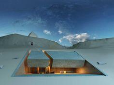 #Architecture #insolite Située au Liban, cette maison a été réalisée dans la roche par le cabinet MZ