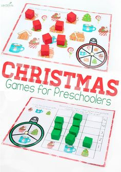 Two fun Christmas games for preschoolers. Use them just for fun or to practice matching & graphing skills. Also great for keeping kids busy while you wrap presents ;)