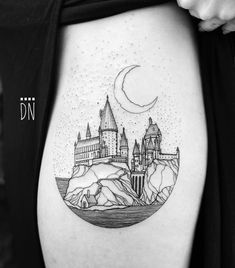 🏰 Hogwarts for Kiersten - 2017 Future Tattoos, Love Tattoos, Unique Tattoos, Beautiful Tattoos, Body Art Tattoos, New Tattoos, Small Tattoos, Ankle Tattoos, Arrow Tattoos